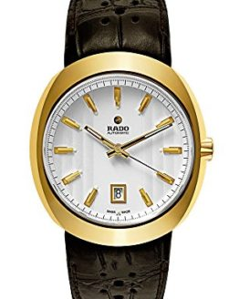 Rado D-Star Ceramos Yellow Gold Plated Mens Watch Fold-Over Clasp Date