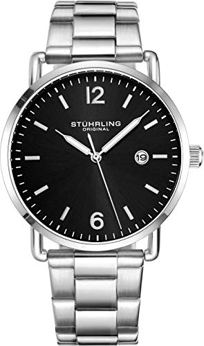 stuhrling-original-wrist-watch-silver-bracelet-black-dial-black-dial-vintage-style-38mm-case-and-lugs-with-date-3901-mens-watch-collection