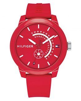 Tommy Hilfiger Men's Denim Quartz Watch with Silicone Strap