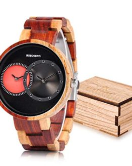 BOBO BIRD R10 Men's 2 Time Zone Wooden Watches