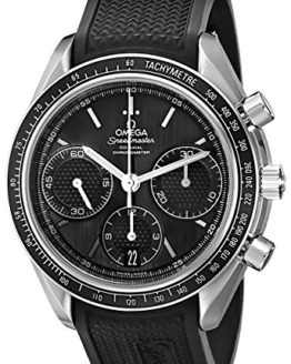 Omega Men's Speed Master Analog Display Automatic Self Wind Black Watch