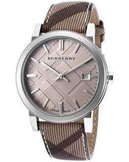 Burberry Embossed Beige Dial Quartz Ladies Watch