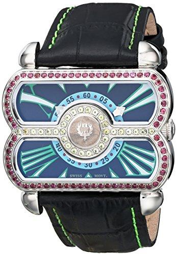 Brillier Women's Analog Display Swiss Quartz Black Watch