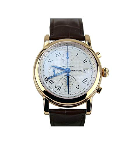 MONTBLANC 18K RED Gold 42mm Star GMT Chronograph Watch 101638