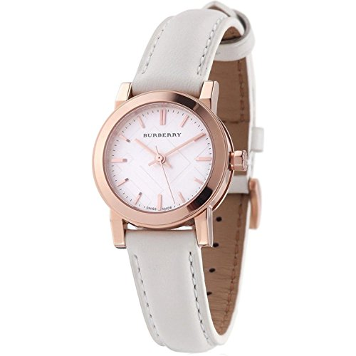 Burberry Rose Gold White Dial Ladies Watch