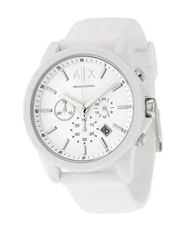 Armani Exchange Men's AX1325 White Silicone Watch