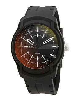 Diesel Men's Quartz Stainless Steel and Silicone Casual Watch