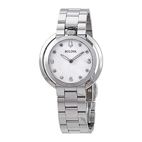 Ladies' Bulova Rubaiyat Diamond Stainless Steel Watch