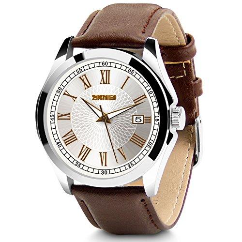 Aposon Men's Classic Quartz Wrist Watch,Roman Numeral Business Watch Casual