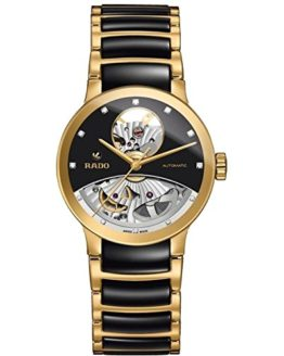 Rado Men's 33mm Multicolor Ceramic Band Gold Plated Case S. Sapphire