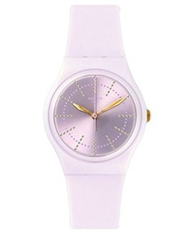 Swatch Originals Guimauve Pink Dial Silicone Strap Ladies Watch