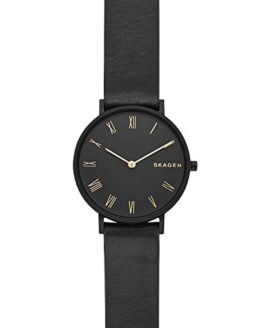 Skagen Women's 'Hald' Quartz Stainless Steel and Leather Casual Watch