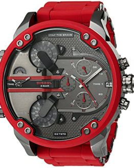 Diesel Mens Mr. Daddy 2.0 Multi-movement Red Silicone Watch