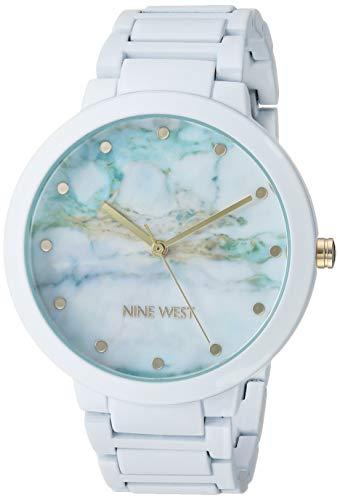 Nine West Women's Rubberized White Bracelet Watch