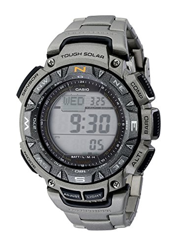 Casio Men's Pathfinder Triple-Sensor Stainless Steel Watch