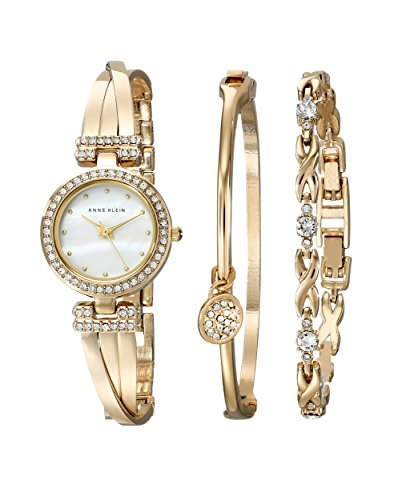 Anne Klein Women's Swarovski Crystal-Accented Watch