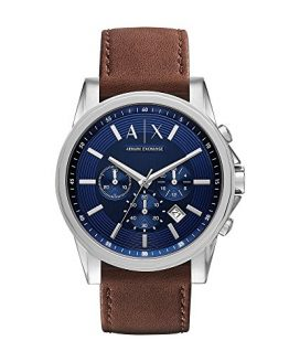 Armani Exchange Men's AX2501 Brown Leather Watch