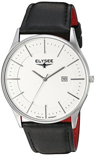 Elysee Men's Classic-Edition Analog Display Quartz Black Watch