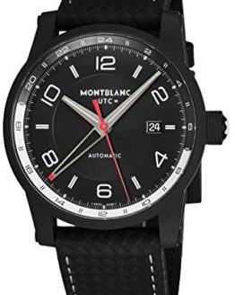 Montblanc Timewalker Urban Automatic Black Dial Black Leather Mens Watch
