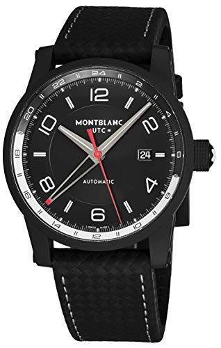 Montblanc Timewalker Urban Automatic Black Dial Black Leather Mens Watch