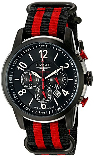 Elysee Men's Competition Analog Display Quartz Multi-Color Watch