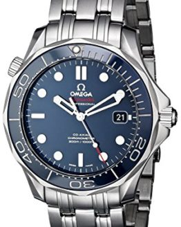 Omega Men's Seamaster Analog Display Automatic Self-Wind silver-Tone Watch