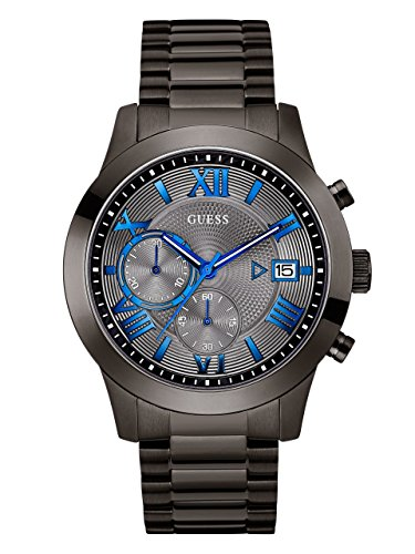 GUESS Men's Stainless Steel Multi-Function Casual Bracelet Watch