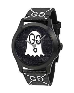 Gucci G-Timeless Black with Ghost Motif Dial Mens Watch