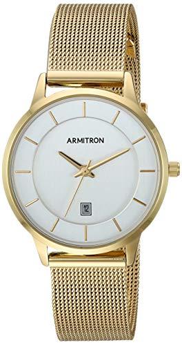 Armitron Women's Date Function Gold-Tone Mesh Bracelet Watch