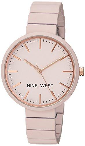 Nine West Women's Matte Pastel Pink Rubberized Bracelet Watch
