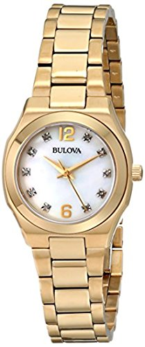 Bulova Ladies Gold Tone Bracelet Watch