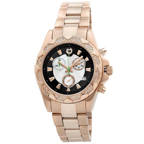 Brillier Women's Analog Display Swiss Quartz Rose Gold Watch