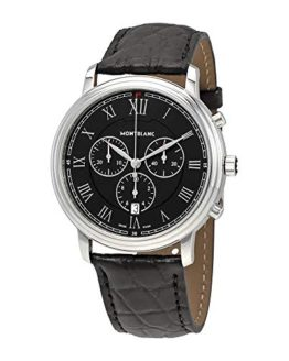 Montblanc Tradition Chronograph Black Dial Mens Watch 117047