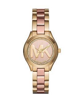 Michael Kors Women's Mini Slim Runway Gold-Tone Watch MK3650