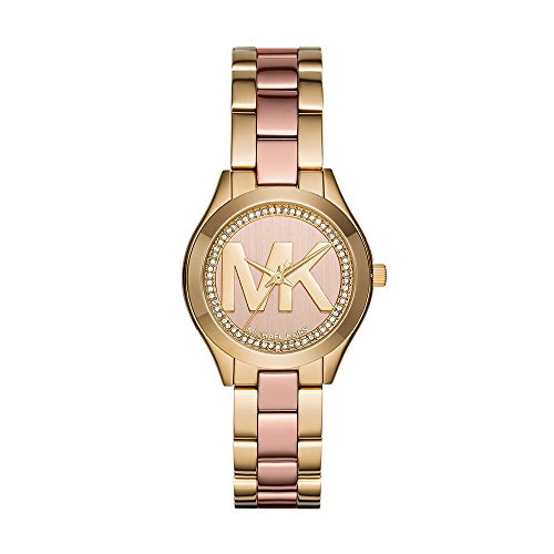 Michael Kors Women's Mini Slim Runway Gold Tone Watch MK3650