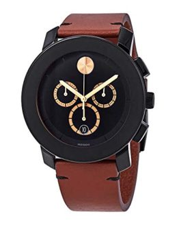 Movado Unisex Black/Dark Brown One Size