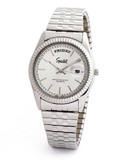 Speidel Mens Expansion Collection Watch in Silver Tone with Day-Date Function