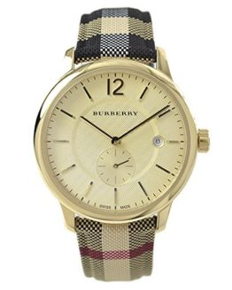 Burberry Gold Dial Stainless Steel Textile Multi Quartz Ladies Watch