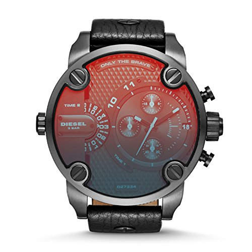 Diesel Men's Little Daddy Black Stainless Steel Watch