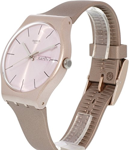 Swatch Pinkbayang Tan Silicone Quartz Fashion Watch