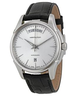 Hamilton Jazzmaster Automatic Silver Dial Black Leather Mens Watch