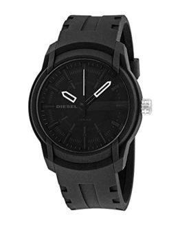 Diesel Men's Armbar Silicone Casual Watch, Color: Black
