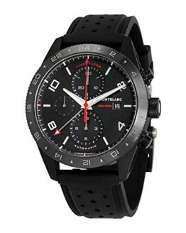 Montblanc TimeWalker Black Dial Mens Chronograph Leather Watch 116101