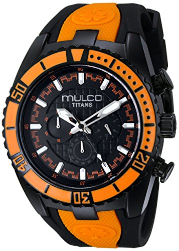 MULCO Unisex Titan Wave Analog Display Japanese Quartz Orange Watch