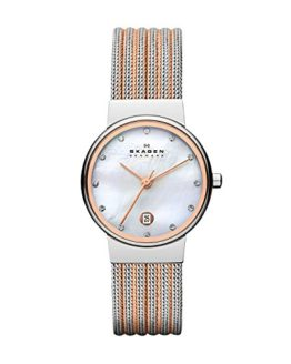 Skagen Women's Ancher Quartz Two-Tone Stainless Steel Mesh Dress Watch