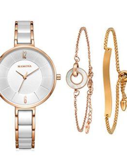 MAMONA Women's Watch & Bracelet Gift Set Ladies