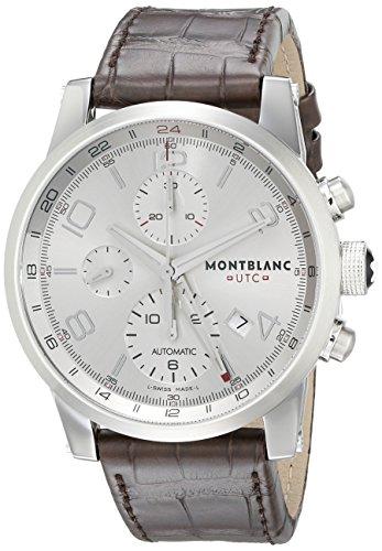 Montblanc Timewalker ChronoVoyager UTC Men's Brown Leather Strap Swiss