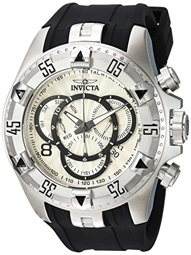 Invicta Men's Quartz Stainless Steel and Silicone Casual Watch