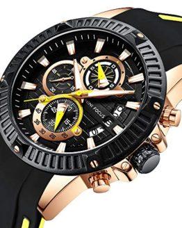 MINI FOCUS Men Business Watch, Quratz Chronograph Watches