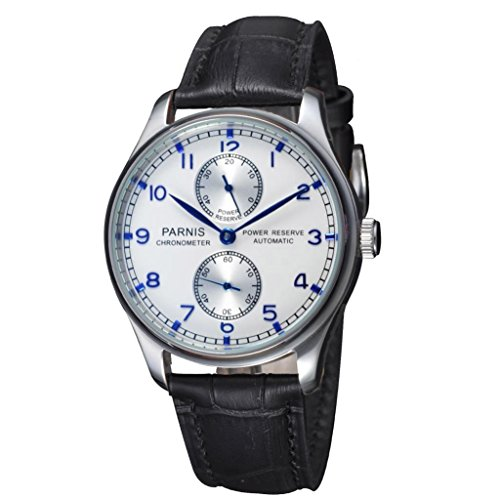Fanmis White Dial Sapphire Seagull Movement Power Watch